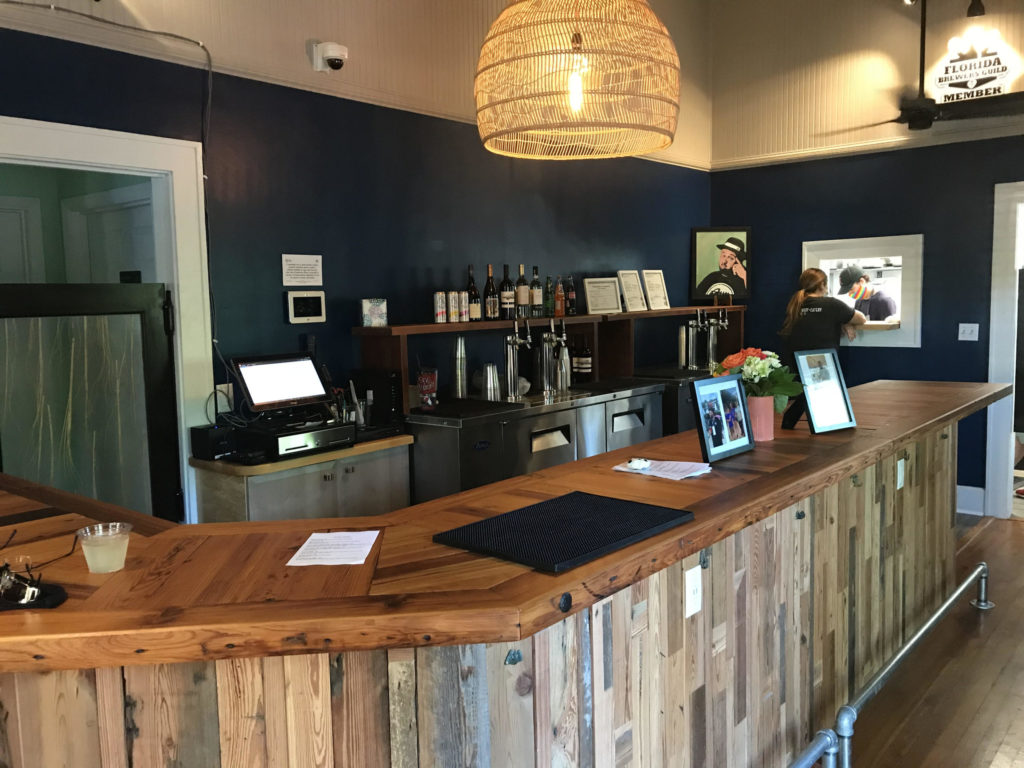 Interior shot of Gulfport Brewery + Eatery