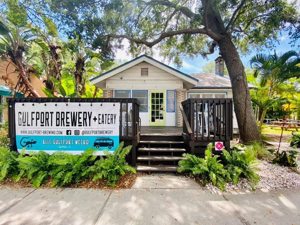 Outdoor shot of Gulfport Brewery + Eatery