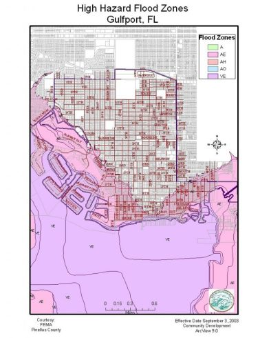 The AE and VE flood zones are the two lowest in elevation and residents in these high-impact areas are required to have flood insurance, said Gulfport City Manager Jim O'Reilly. The city's federal flood rating of six means they qualify for a 20 percent discount, said Mike Taylor, principal planner in the Community Development department. Residents living in higher elevation areas can opt for what is called a preferred risk flood insurance policy and they qualify for a 5 percent discount.