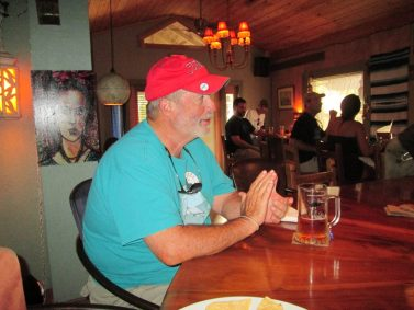 """""""Wednesday night won't be the same without Peg's. For many years, I enjoyed great friends, food and beer each week. Peg's will be missed, and I wish Peg and Tony good luck on their new venture,"""" says Paul Kavin of St. Petersburg, pictured here at the bar inside Peg's."""