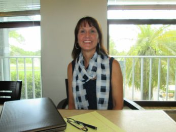 Pamela Arbisi, director of business development for The First Tee of St. Petersburg, currently works out of an office at Mangrove Bay golf course.