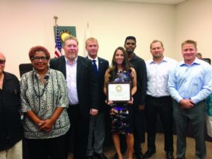 The Tampa Bay Beach Bums were presented with the Spirit of Gulfport award on Tuesday evening.