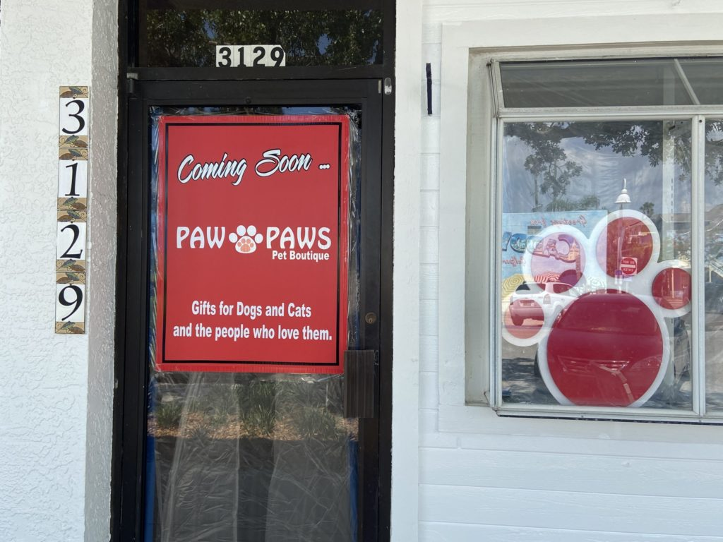 After months of patience and delays, Mike Jackson and Kevin Mulrennea are ready to open up shop on Beach Boulevard in June. Paw Paw's Pet Boutique will specialize in pet couture, to include hard to find cat items.
