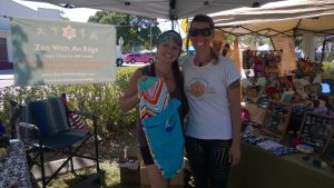 Stephanie Davenport (left) and Kimberly Chaffin at Zen with an EDGE - Mindful Wellness