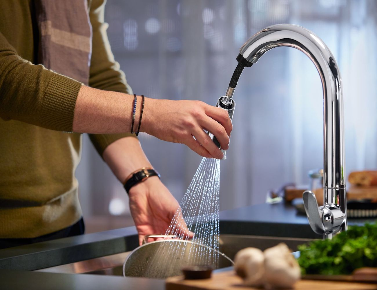 kohler konnect sensate smart kitchen sink faucet can be activated with your voice