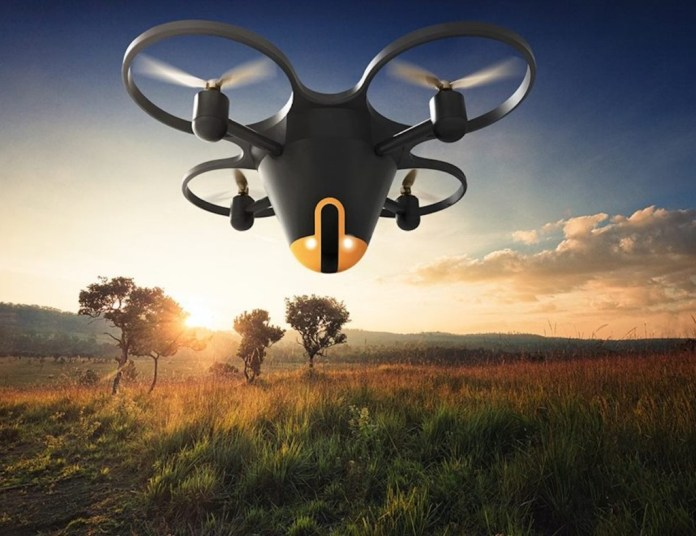 Sunflower drone can detect unwanted visitors