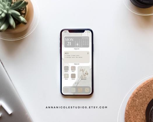 Gray Neutral Aesthetic iPhone iOS14
