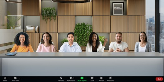 Zoom's Immersive View feature lets you simulate an office or auditorium in an online meeting