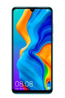 P30 lite Product Image_Standard_Blue_Front_with UI_20190119