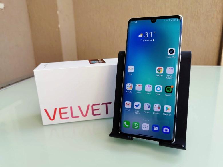 LG Velvet. צילום צחי הופמן