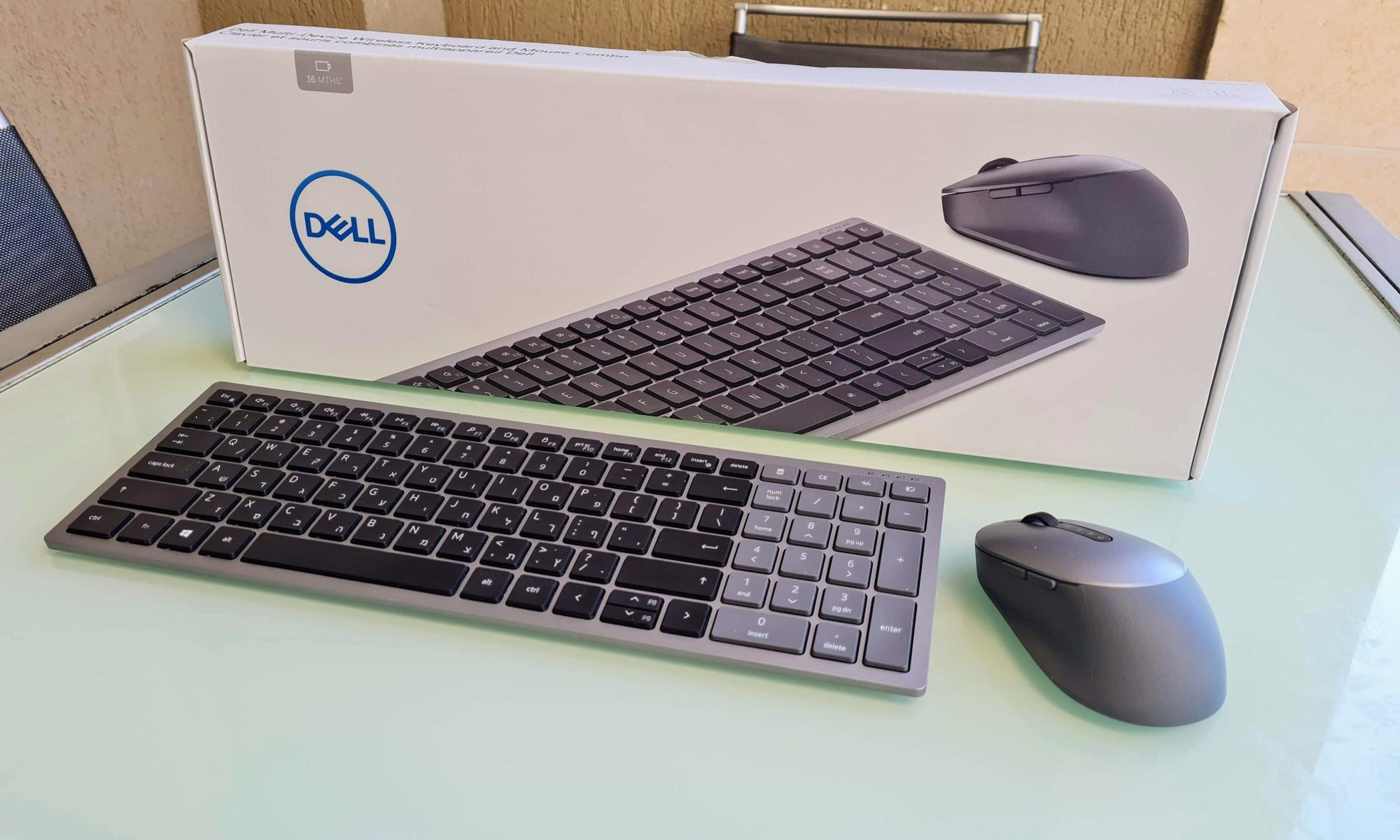 מקלדת ועכבר Dell KM7120W. צילום צחי הופמן