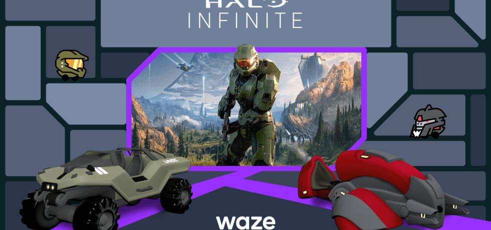 Waze ו-Halo. קרדיט Waze