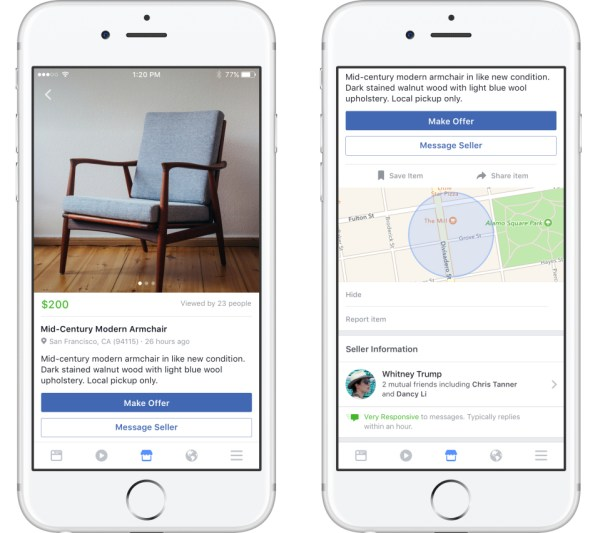 Introducing Facebook Marketplace for Android and iOS