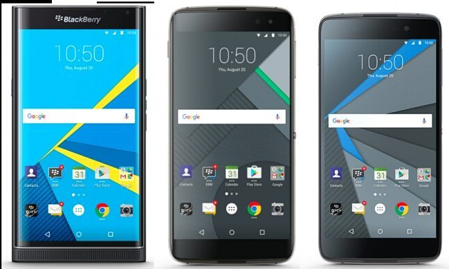 Specs Comparison: Blackberry Priv vs DTEK50 vs DTEK60