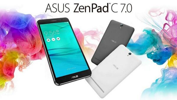 ASUS ZenPad C 7.0 (Z171KG) with Entry-Level Specs, 3480mAh Battery