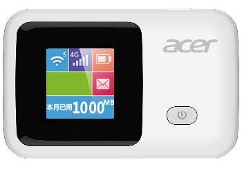 Acer LTE-R1S Wi-Fi Mobile Router with 2000mAh Battery