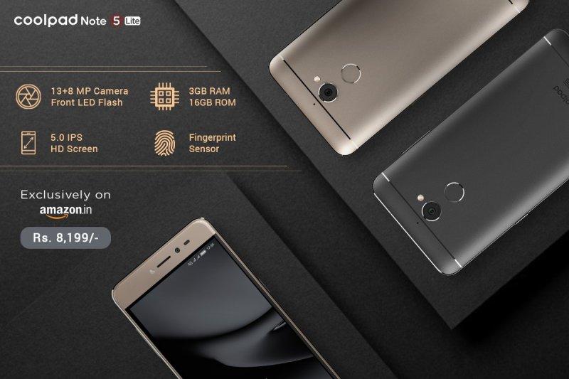 Coolpad Note 5 Lite Debuts with 3GB RAM, 4G VoLTE, Fingerprint sensor