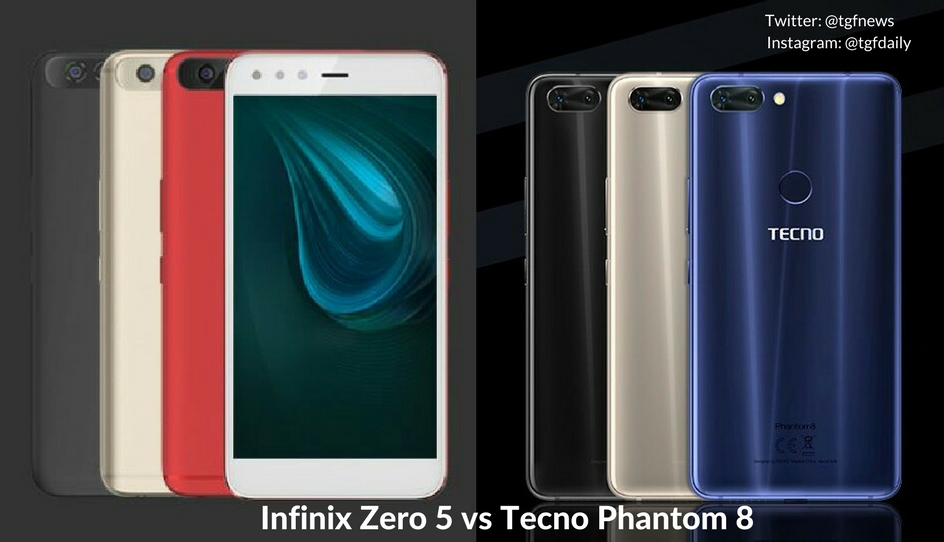 Infinix Zero 5 vs Tecno Phantom 8: Specs Comparison