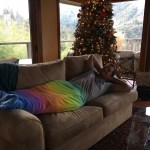 Merman Adam loves Christmas in Oregon