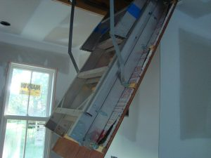 attic stair air leak