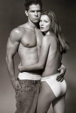 Mark Wahlberg and Kate Moss for Calvin Klein underwear // Vogue
