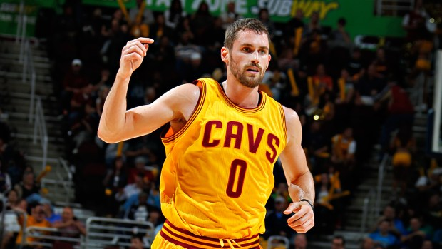 Kevin Love is set to miss six weeks due to a knee injury. (Gregory Shamus/Getty Images)