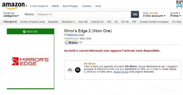 Mirror's Edge 2 for Xbox One ...exclusively?