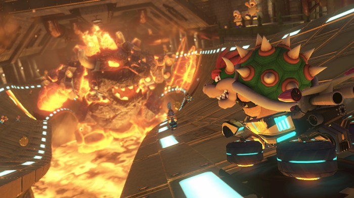 I think that Mario kart 8 can stand up graphically with pretty much any other game, its super pretty.