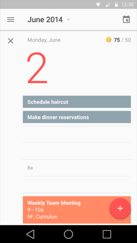 An example of material design