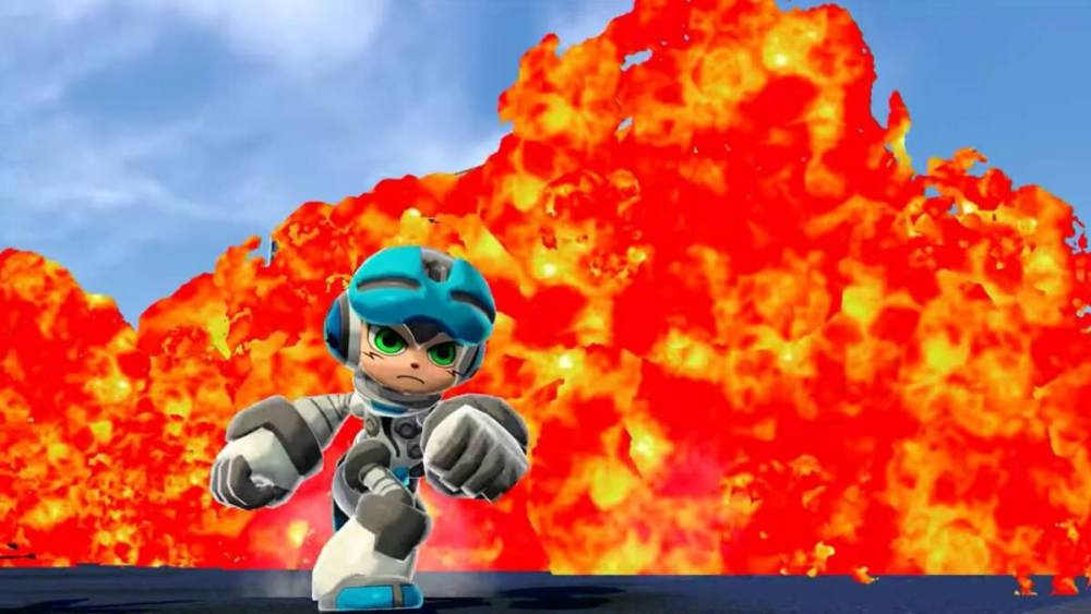Mighty No. 9 fire