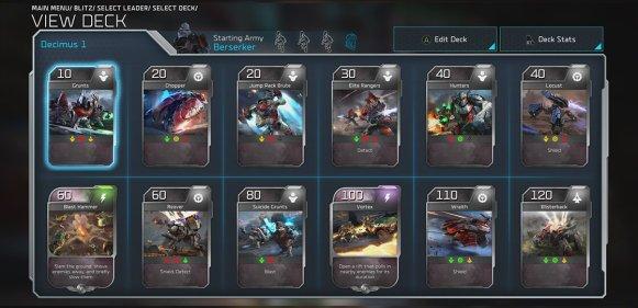 Halo Wars 2 Blitz Deck