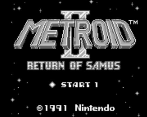 Metroid II Return of Samus title screen