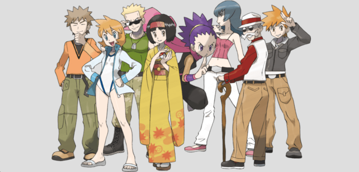 Kanto Gym Leaders Gold and Silver