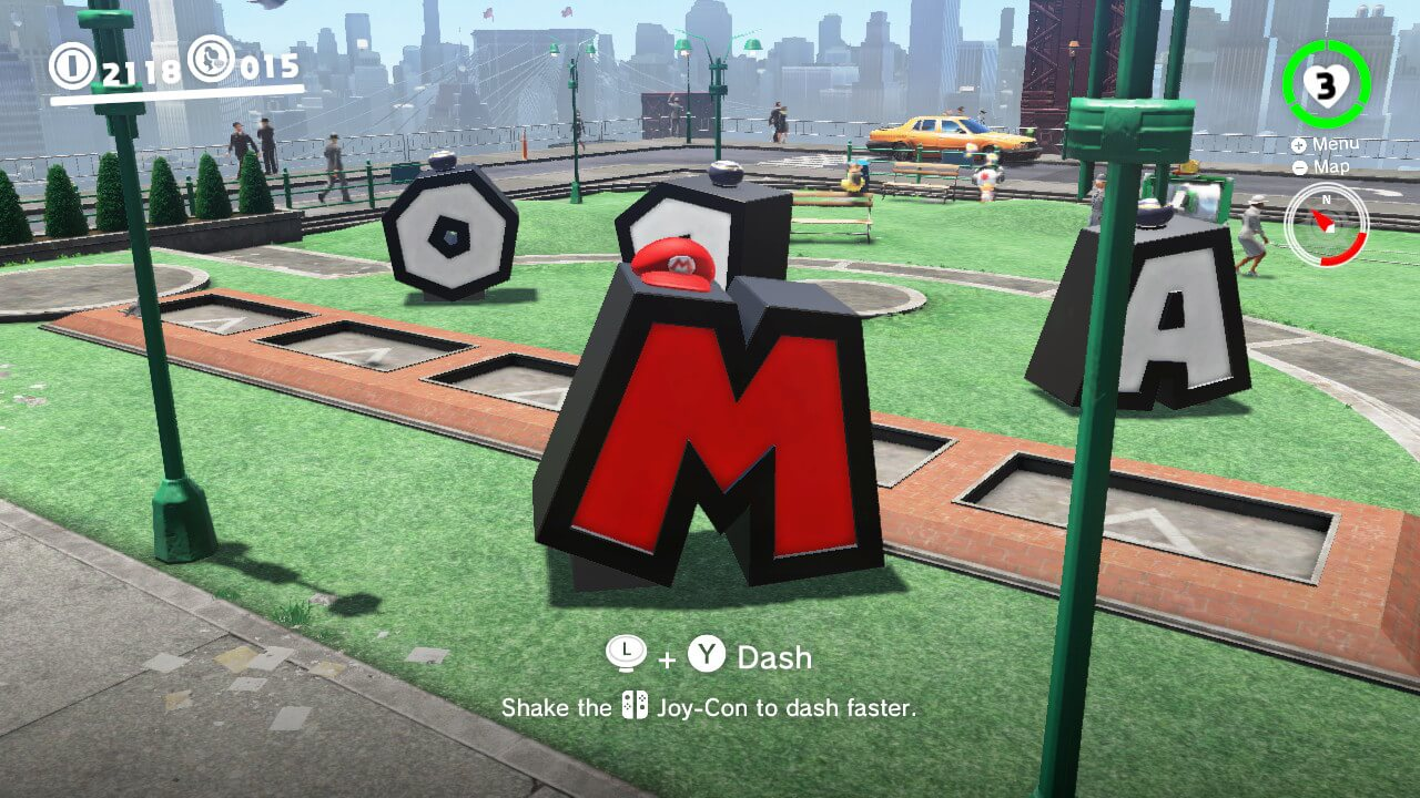 Mario Letter Capture Mario Odyssey