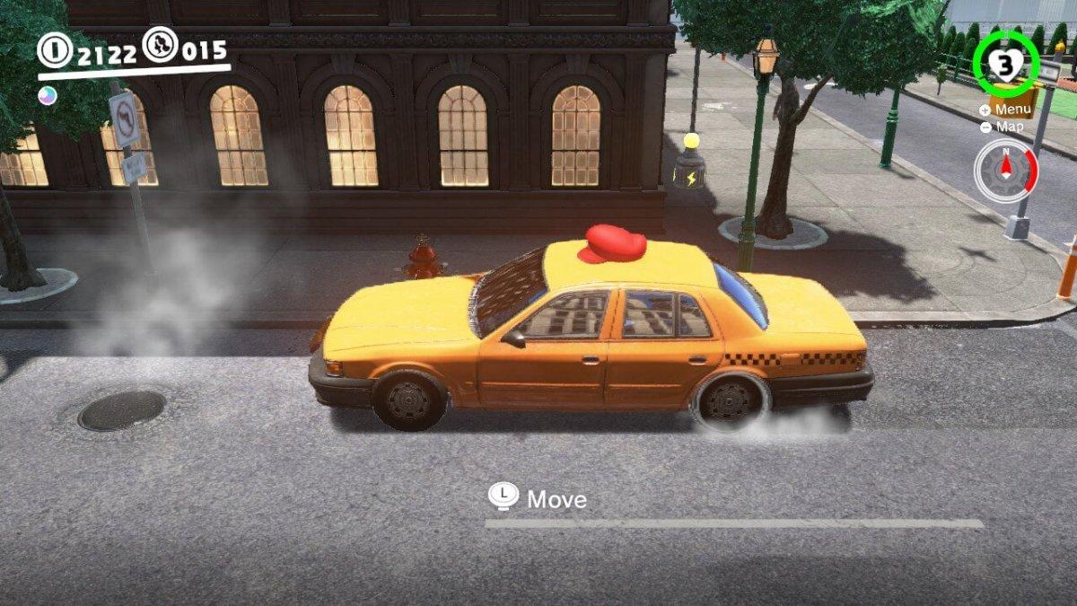 Taxi Capture Mario Odyssey