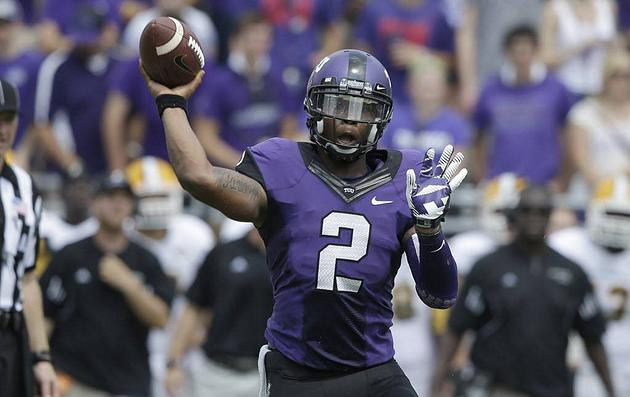(TCU and Oklahoma headlines a huge slate of Saturday games, Courtesy AP)