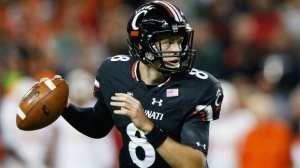 Hayden Moore was thrown into action multiple times due to injury. He gets his chance to lead UC to a Bowl victory with a little experience on his collar. (Courtesy, FoxSports)