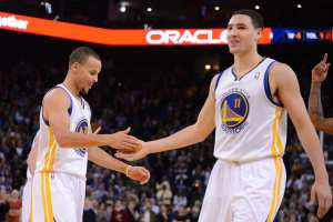 "Curry and teammate Klay Thompson have become known as the ""Splash Brothers,"" thanks to their three point ability. Courtesy: The Big Lead"