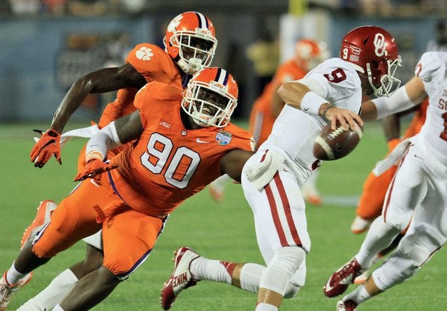 Defensive end Shaq Lawson has been the greatest surprise for Clemson this season. Courtesy of thecrimsoninsider.com
