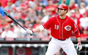 With a lot of talent moved in the offseason, the Reds still have their rock in Joey Votto. (Photo By: Inhale Sports)