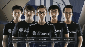 Team SoloMid, all stars on their previous teams (Image http://lol.esportspedia.com/wiki/File:TSM_Roster_LCS_2016_Spring.jpg)