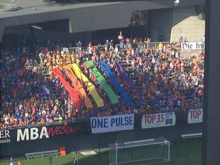 Tribute to the Orlando shooting victims.