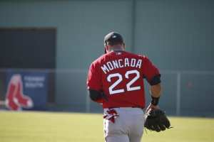The future is bright for young Yoan Moncada. Photo courtesy of Brynn Anderson of the AP
