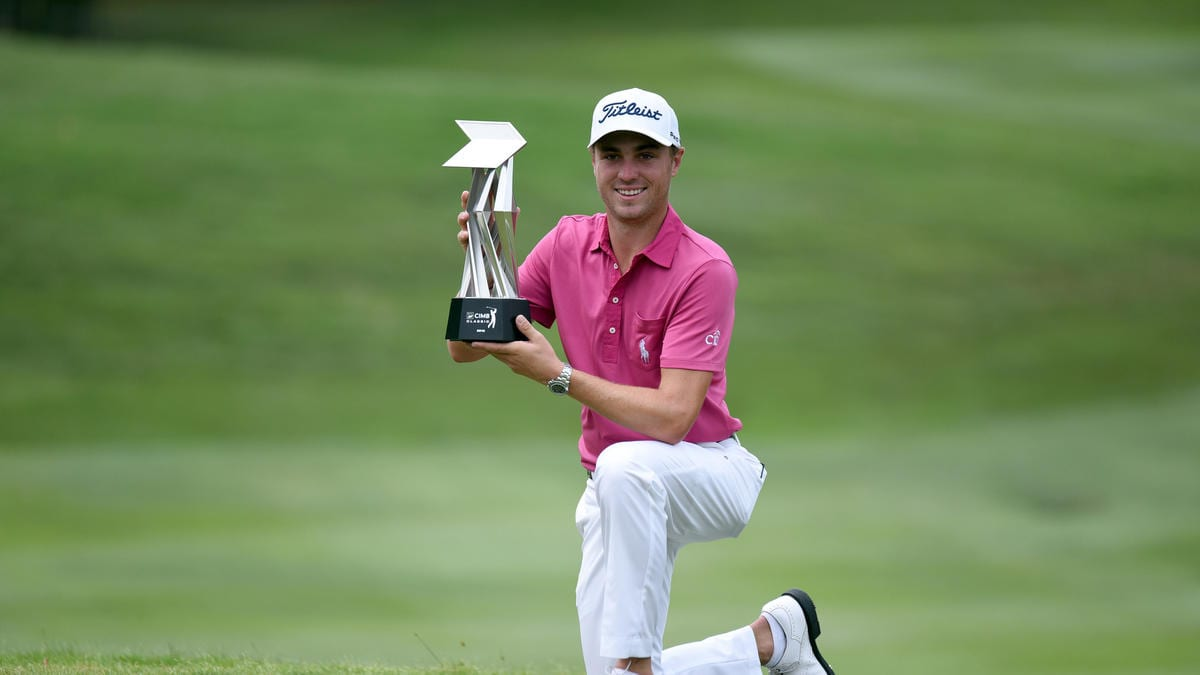 Justin Thomas (Courtesy of Stanley Chou / Getty Images via LATimes.com)