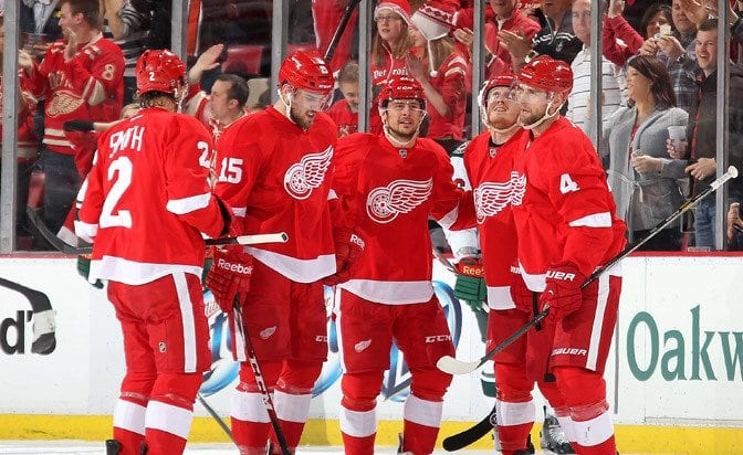 Detroit Red Wings, New York Islanders, Dallas Stars, Buffalo Sabres, St. Louis Blues, Henrik Zetterberg, Steve Ott, Danny DeKeyser, Jarred Coreau, Jimmy Howard, Petr Mrazek, Frans Nielsen, Thomas Vanek, Jeff Blashill, Ken Holland, Grand Rapid Griffins, Goals, Assists, Hockey, NHL, Dylan Larkin, Pavel Datsyuk, KHL, Goals, Assists