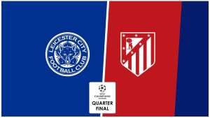 Champions League Quarter Final Leicester v Atletico
