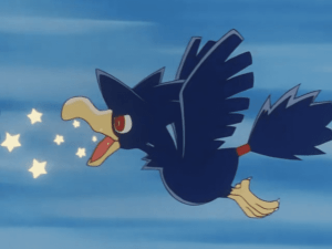 Pokémon Murkrow uses swift