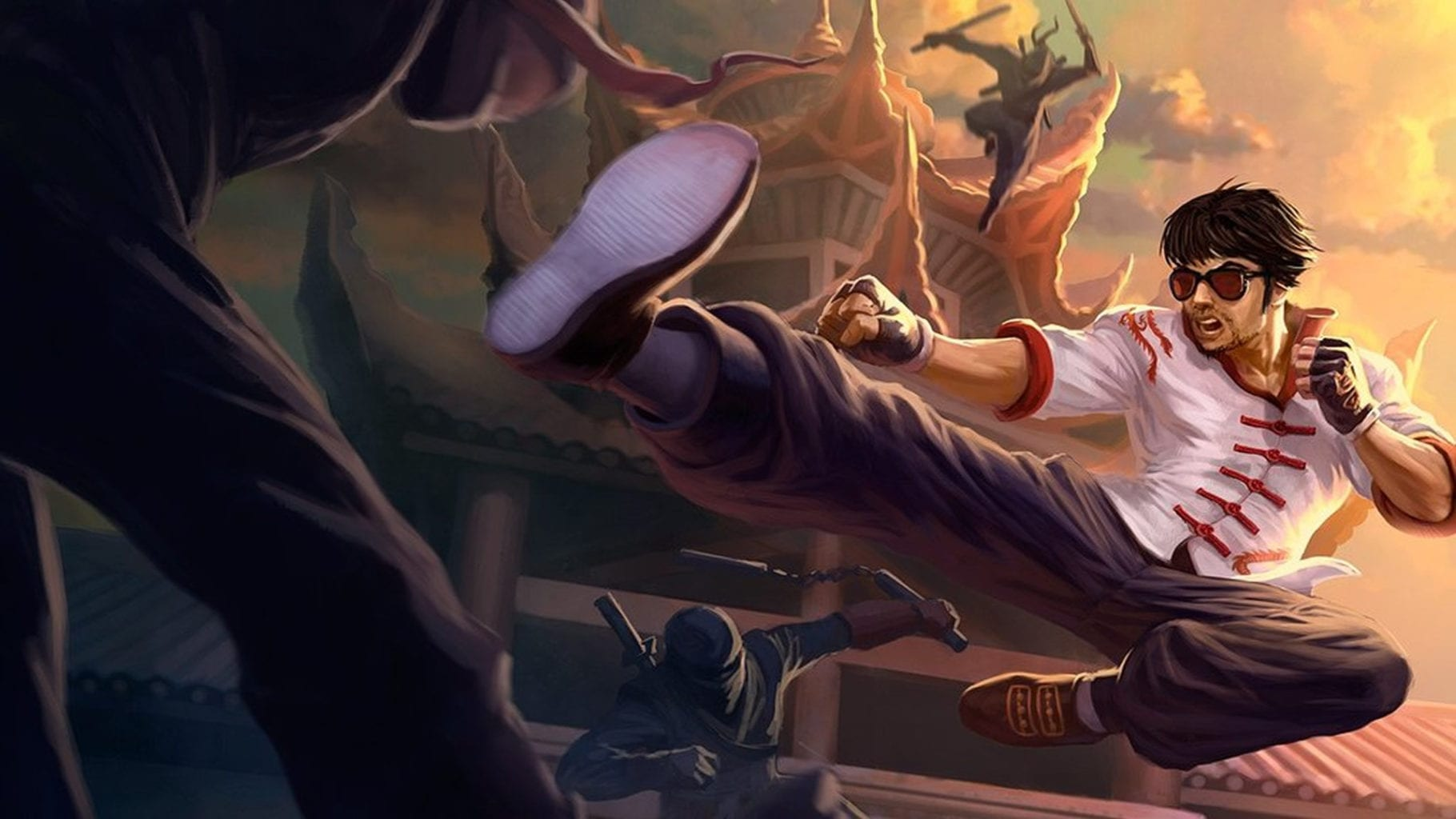 Dragon Fist Lee Sin splash art