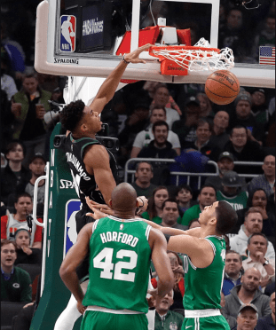 Giannis antetokounmpo-milwaukee bucks-boston celtics-dunk-mvp-NBA
