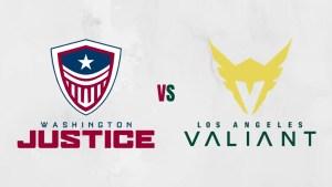 Washington Justice vs Los Angeles Valiant